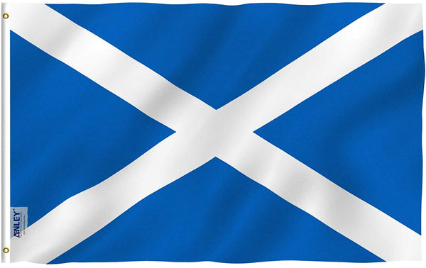 Scotland Flag - Vivid Color and UV Fade Resistant - Country Double Stitched 3 X 5 Ft