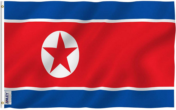 North Korea Flag - Vivid Color and UV Fade Resistant - Country Double Stitched 3 X 5 Ft