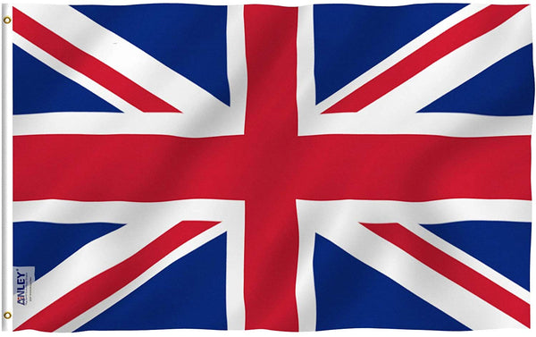 United Kingdom UK Flag - Vivid Color and UV Fade Resistant - Country Double Stitched 3 X 5 Ft