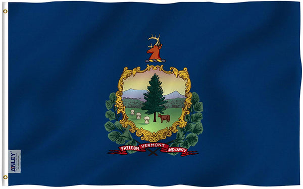 Vermont State Flag - Vivid Color UV Fade Resistant - Double Stitched 3 X 5 Ft