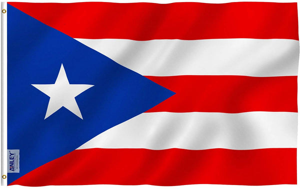 Puerto Rico Flag - Vivid Color and UV Fade Resistant - Country Double Stitched 3 X 5 Ft