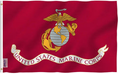 US Marine Corps USMC Flag - Vivid Color and UV Fade Resistant - Double Stitched 3 X 5 Ft