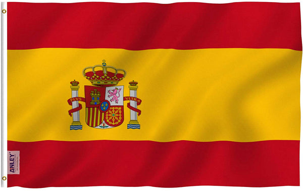 Spain Flag - Vivid Color and UV Fade Resistant - Country Double Stitched 3 X 5 Ft