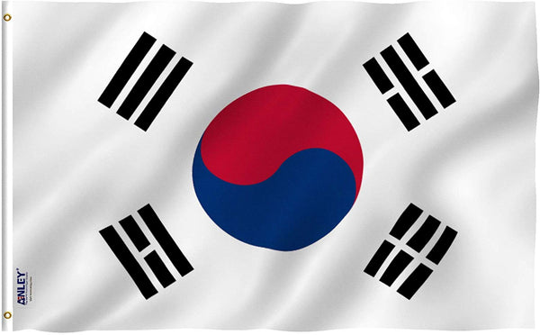 South Korea Flag - Vivid Color and UV Fade Resistant - Country Double Stitched 3 X 5 Ft