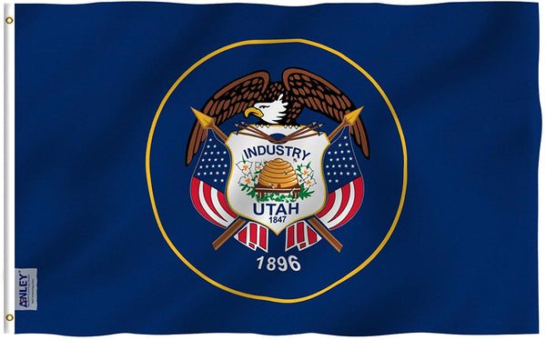 Utah State Flag - Vivid Color and UV Fade Resistant - Double Stitched 3 X 5 Ft