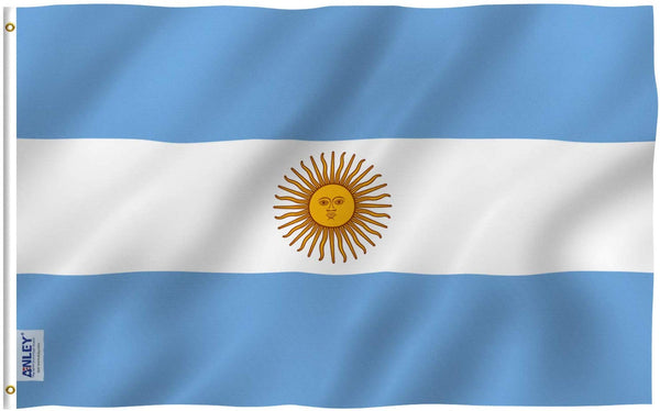 Argentina Flag - Vivid Color and UV Fade Resistant - Country Double Stitched 3 X 5 Ft