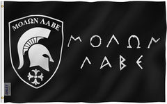 Molon Labe Flag - Vivid Color and UV Fade Resistant - Double Stitched 3 X 5 Ft