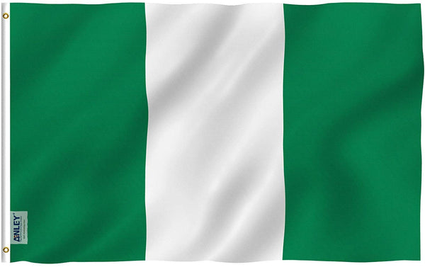 Nigeria Flag - Vivid Color and UV Fade Resistant - Country Double Stitched 3 X 5 Ft