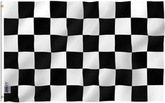 Checkered Flag - Vivid Color and UV Fade Resistant - Double Stitched 3 X 5 Ft