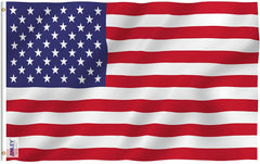 American US Flag - Double Stitched Vivid Color and UV Fade Resistant - Double Stitched 3 X 5 Ft