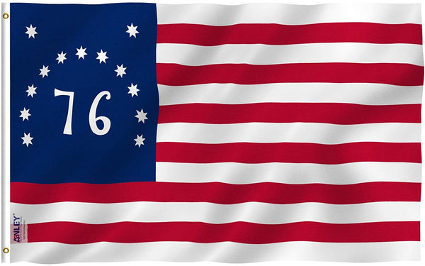 Bennington 76 Flag - Vivid Color and UV Fade Resistant - Double Stitched 3 X 5 Ft