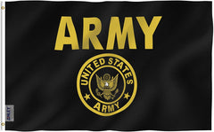 US Army Gold Crest Flag - Vivid Color and UV Fade Resistant - Double Stitched 3 X 5 Ft