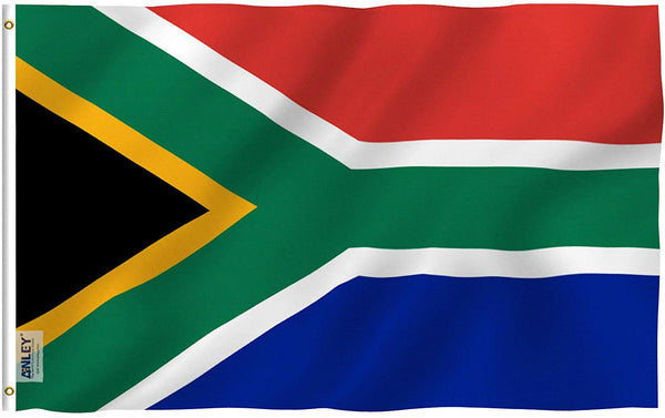 South Africa Flag - Vivid Color and UV Fade Resistant - Country Double Stitched 3 X 5 Ft