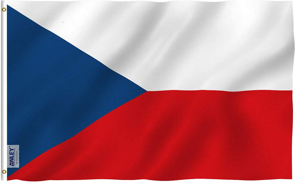 Czech Flag - Vivid Color and UV Fade Resistant - Country Double Stitched 3 X 5 Ft