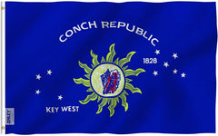 Conch Republic Key West Flag - Vivid Color and UV Fade Resistant - Double Stitched 3 X 5 Ft
