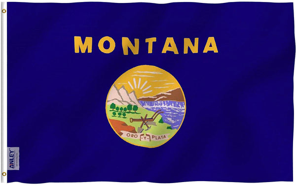 Montana State Flag - Vivid Color and UV Fade Resistant - Double Stitched 3 X 5 Ft