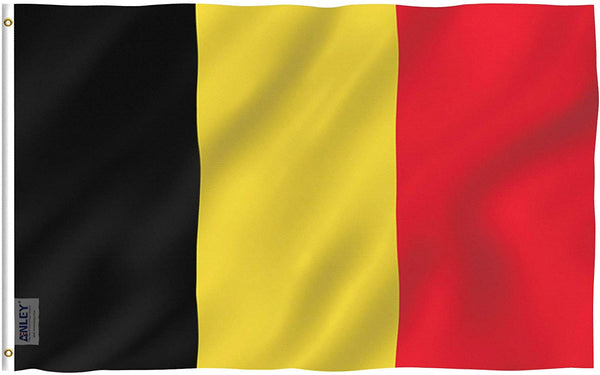 Belgium Flag - Vivid Color and UV Fade Resistant - Country Double Stitched 3 X 5 Ft