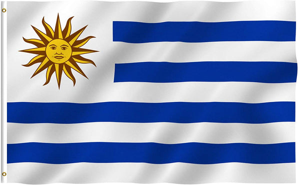 Uruguay Flag - Vivid Color and UV Fade Resistant - Country Double Stitched 3 X 5 Ft