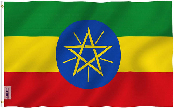 Ethiopia Flag - Vivid Color and UV Fade Resistant - Country Double Stitched 3 X 5 Ft