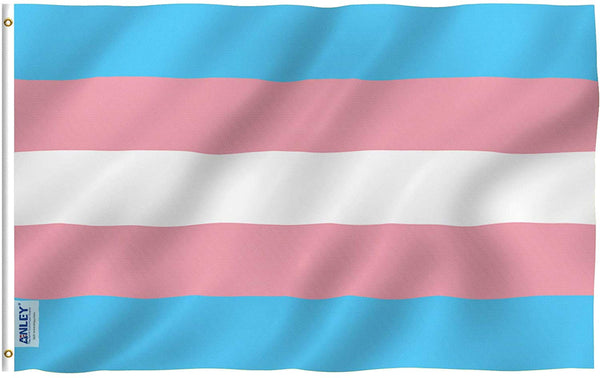Transgender Flag - Vivid Color and UV Fade Resistant - Double Stitched 3 X 5 Ft
