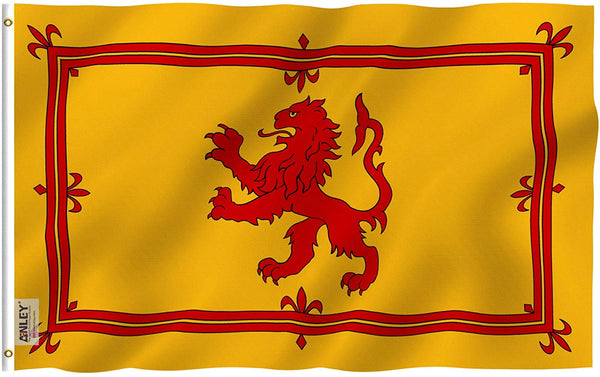 Scotland Rampant Lion Flag - Vivid Color and UV Fade Resistant - Country Double Stitched 3 X 5 Ft