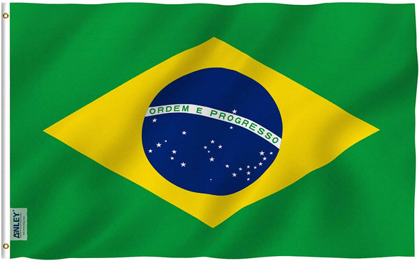 Brazil Flag - Vivid Color and UV Fade Resistant - Country Double Stitched 3 X 5 Ft