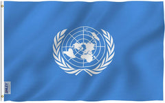 United Nations Flag - Vivid Color and UV Fade Resistant - Double Stitched 3 X 5 Ft