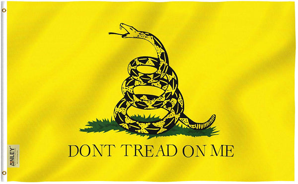 Don't Tread On Me Gadsden Flag - Vivid Color and UV Fade Resistant - Double Stitched 3 X 5 Ft