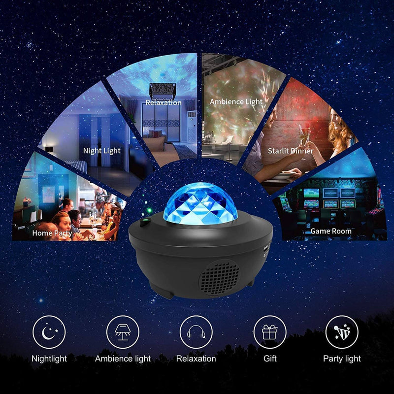 Lumiour® Dreamy Galaxy LED Projector + Speaker