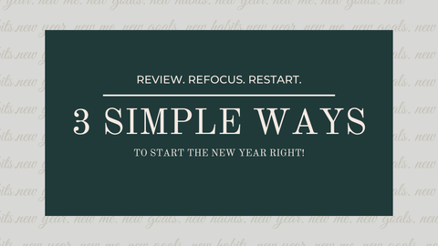 3 ways to start the new year right