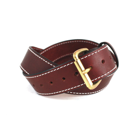 Toby Classic Belt (Brown w/ Brass) - Farrow Co.