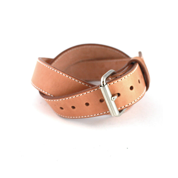 Toby Classic Belt (Natural w/ Nickel) - Farrow Co.