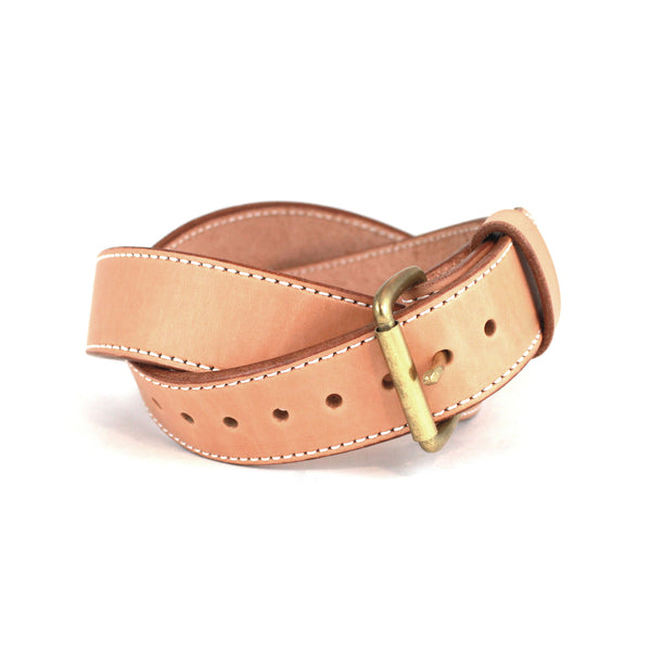 Toby Classic Belt (Natural w/Brass) - Farrow Co.