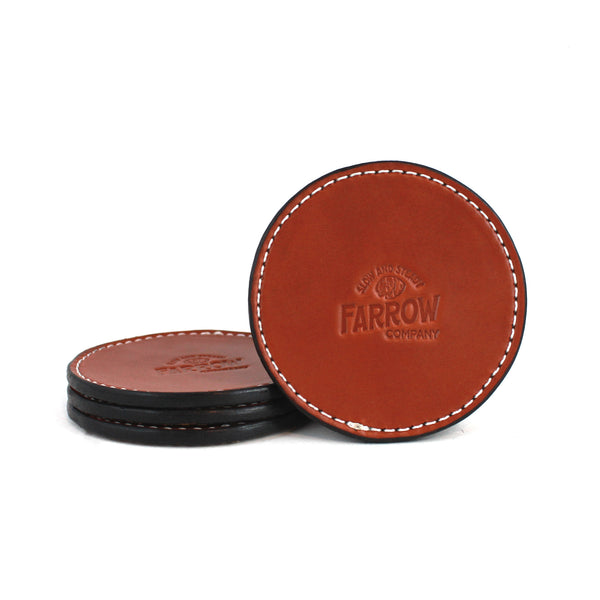 Coaster Set (Saddle Tan) - Farrow Co.