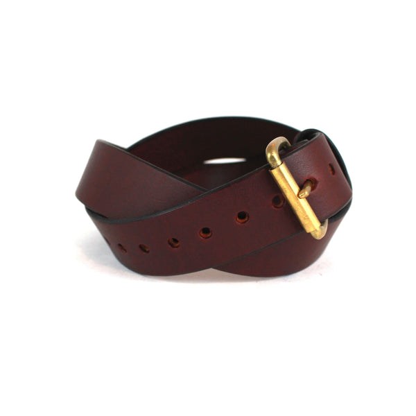 JB Standard Belt (Brown w/ Brass) - Farrow Co.
