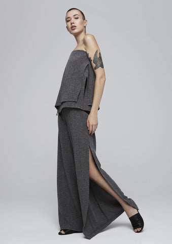 Fragmented Wide Leg Pant