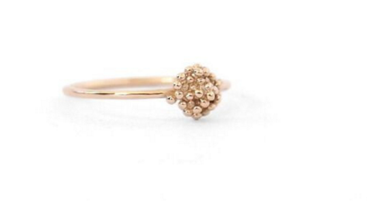Tiny Dot Cluster Ring Gold