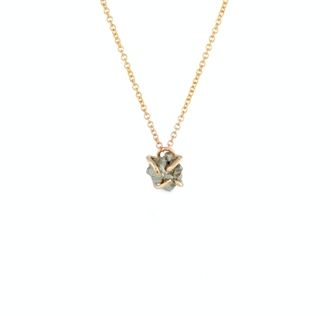 Pyrite Necklace - Rose Gold