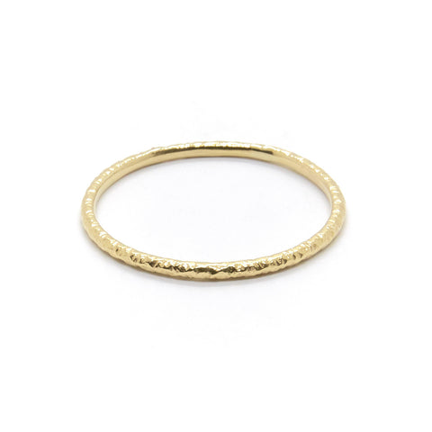 Heavy Faceted Band Gold