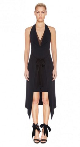 Enigma Halter Dress / Black