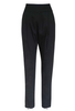 Slim Tucked Trouser / Black