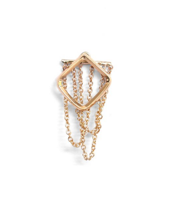 Square ear chandelier rose gold