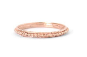 Layered Textured Ring Rose Gold