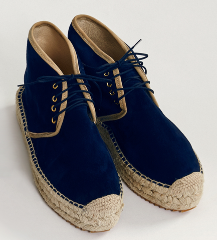 Chukka lace up espadrilles