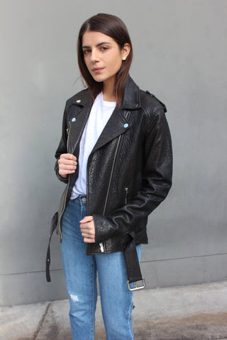 The Wolfe Oversized Moto Jacket