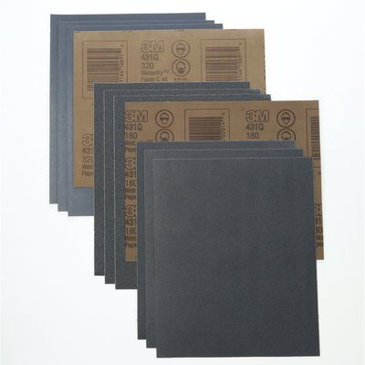 "3M WET & DRY TRI-MITE SILICON CARBIDE PAPER 9 X 11"" 180G PK /50-USA"