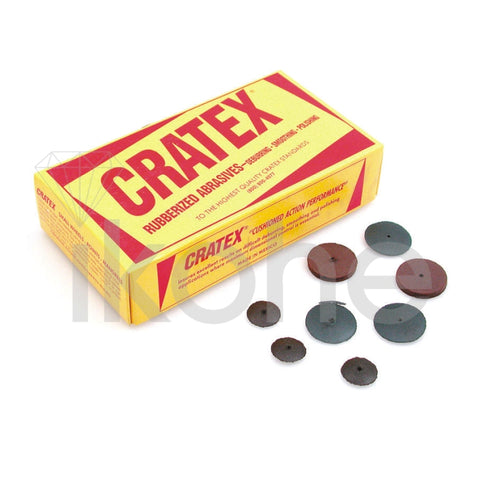 "CRATEX WHEELS 1 X 1/8"" X-FINE #80  BX/100"