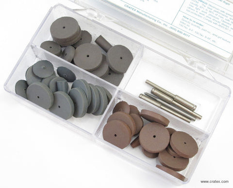 CRATEX RUBBERIZED ABRASIVE SANDING KIT  #779  SET OF 45 PCS