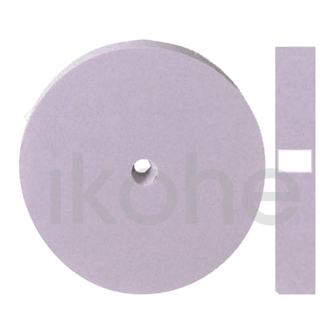 SILICONE UNMOUNTED POLISHERS WHEEL SQ/EDGE 22 X 3mm LILAC FINE BX/100