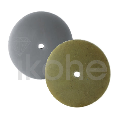 EVE PUMICE UNMOUNTED WHEELS K/EDGE 22 X 4 mm LT GRAY FINE  BX/100